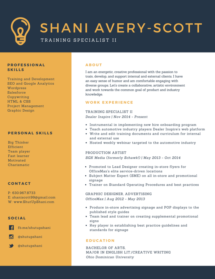Training Specialist Resume